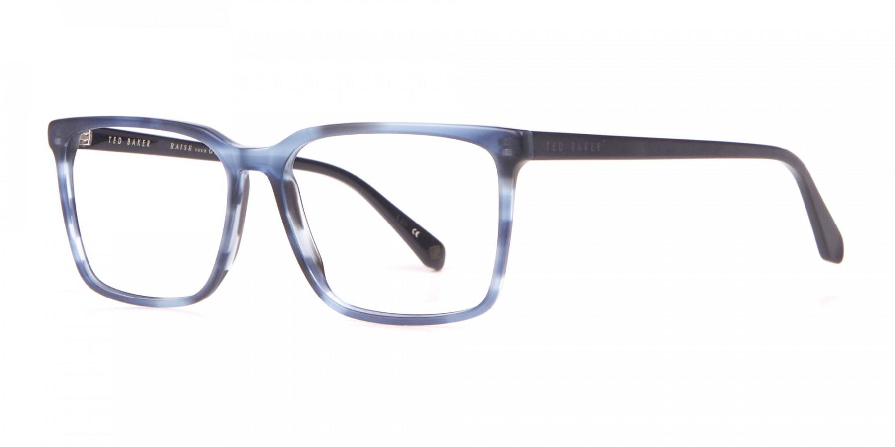 TED BAKER TB8209 ROWE Rectangular Glasses Blue & Black -1