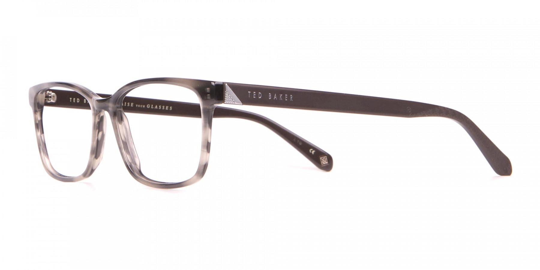TED BAKER TB2810 FULLER Rectangular Glasses Grey Tortoise -1