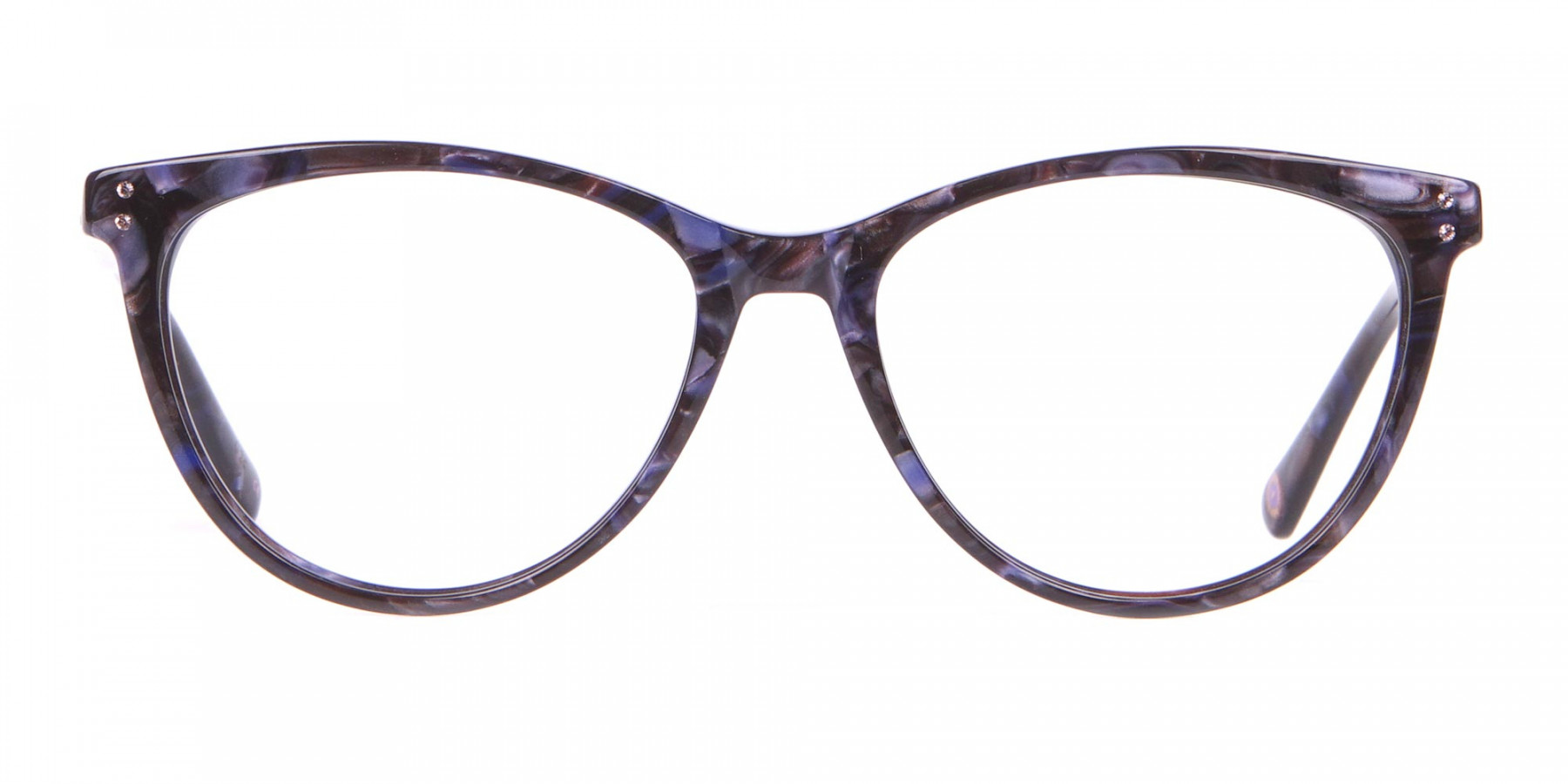 TED BAKER TB9146 Gigi Cat Eye Glasses Purple Marble-1