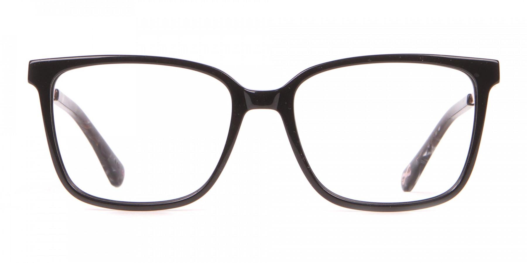 Tad Baker TB9179 Women Black Full Rim Wayfarer Glasses-1
