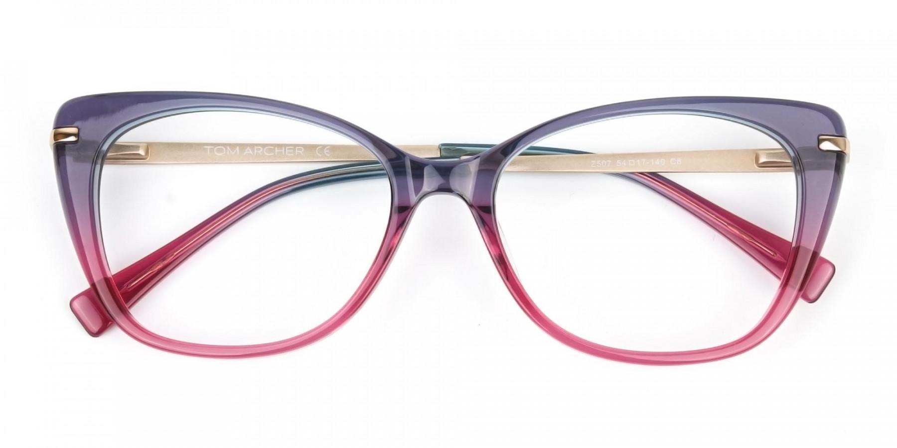 Dusty Purple & Magenta Eyeglasses Cat-Eye-1