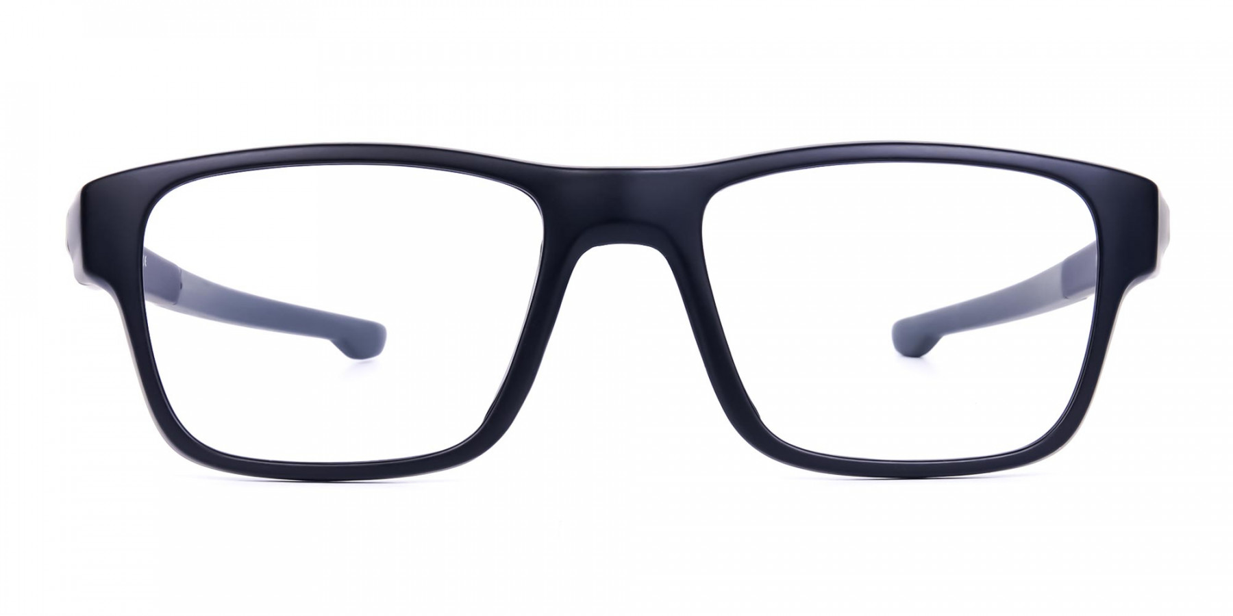 Rectangular Matte Black and Grey sports goggles-1
