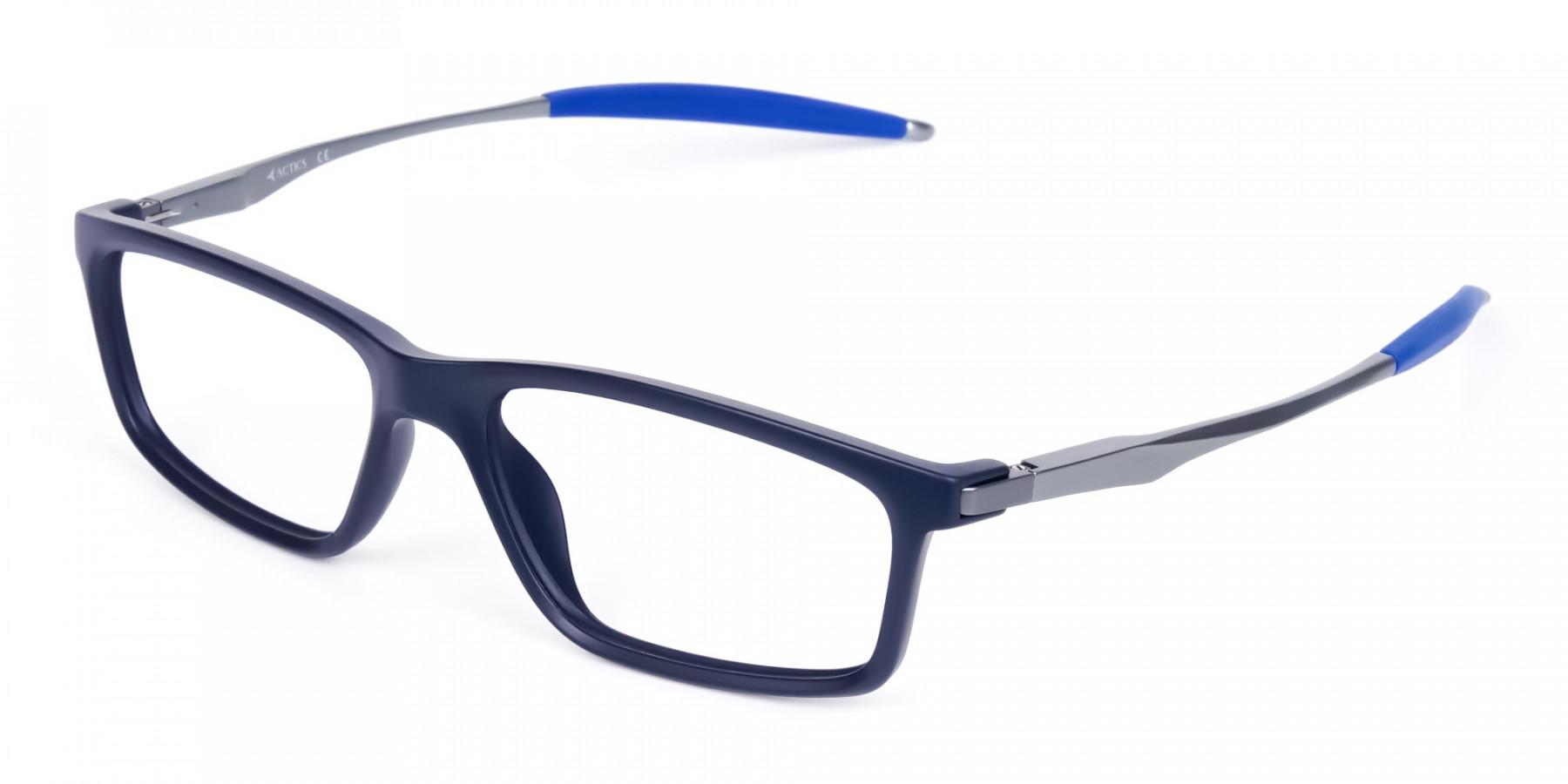 Rectangle-Shape-Blue-Sports-Glasses-1