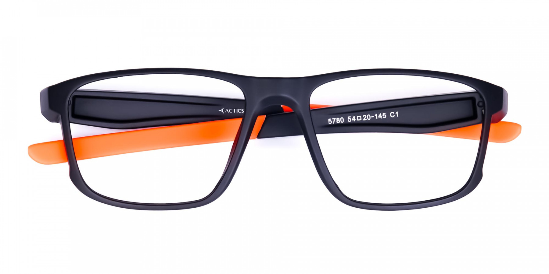 Black and Orange Clear Cycling Glasses-1