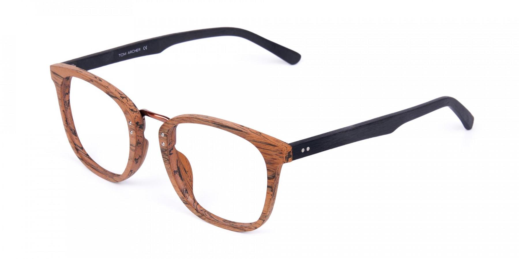 Wooden-Texture-Elm-Brown-Rim-Glasses-1