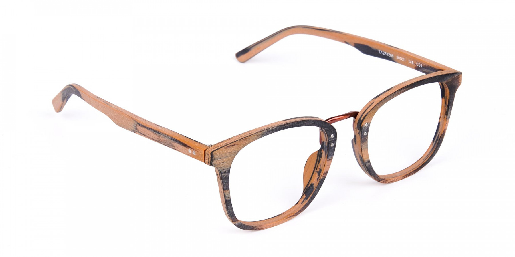 Wooden-Texture-Brown-and-Grey-Rim-Glasses-1