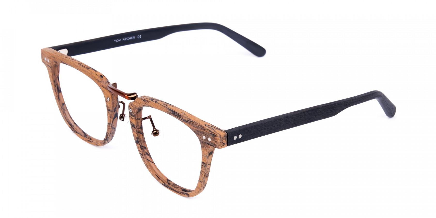 Brown-Black-Full-Rim-Wooden-Glasses-1