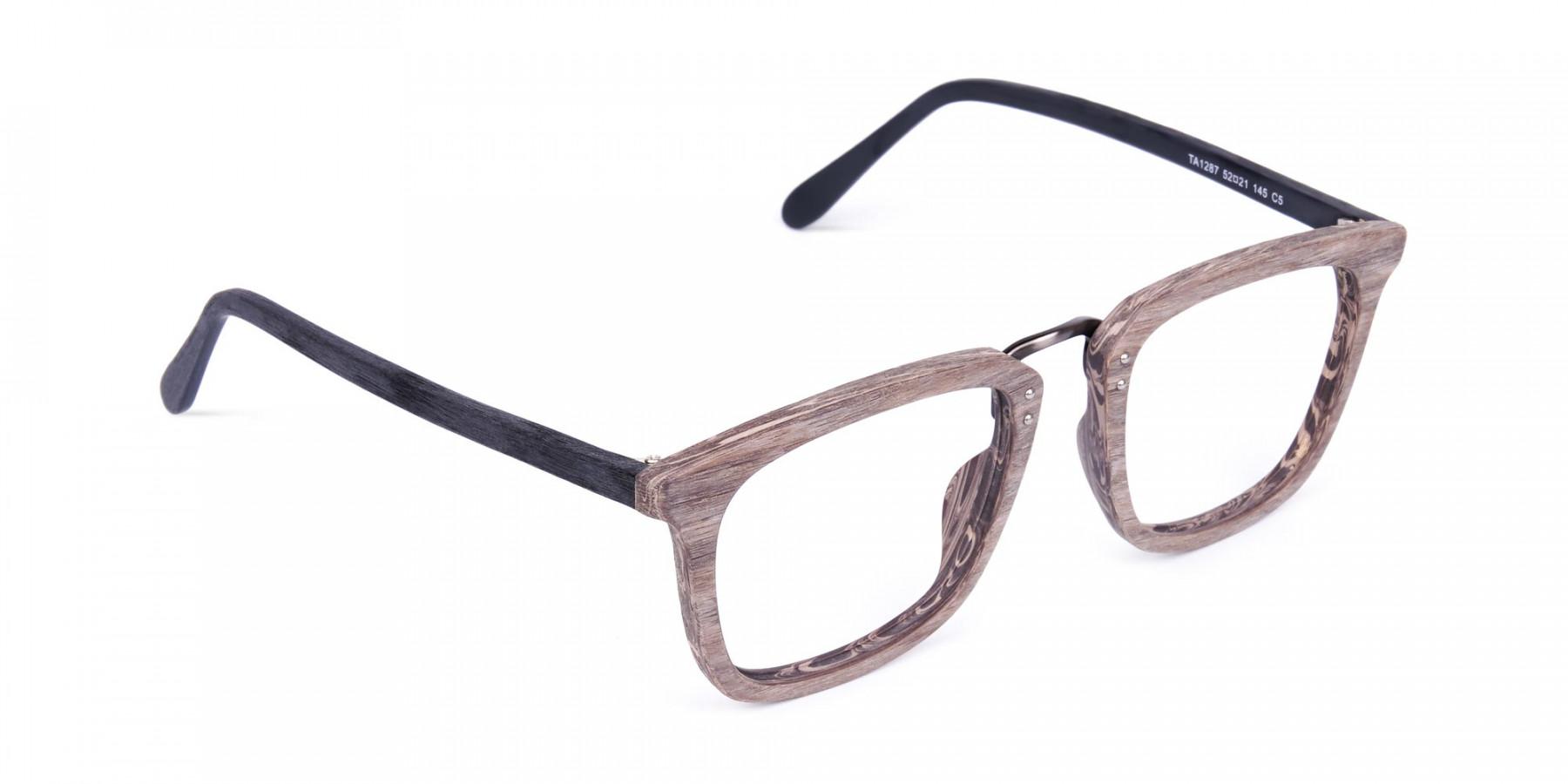 Wooden-Texture-Walnut-Brown-Rim-Glasses-1