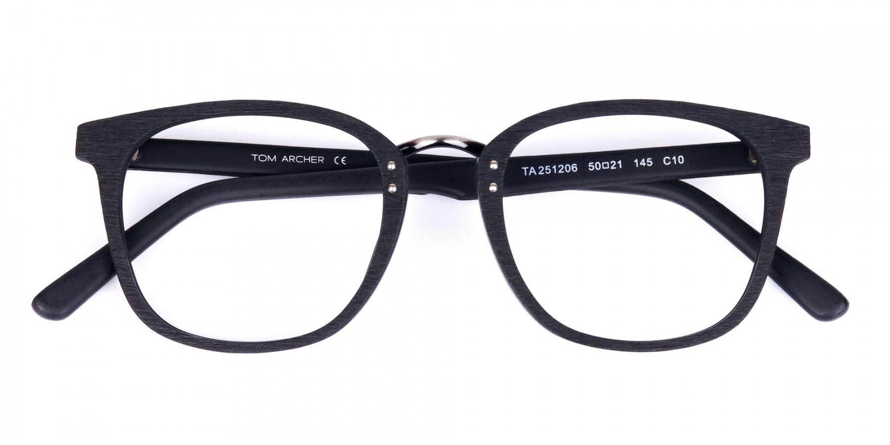 Texture-Black-Square-Wood-Rim-Glasses-1