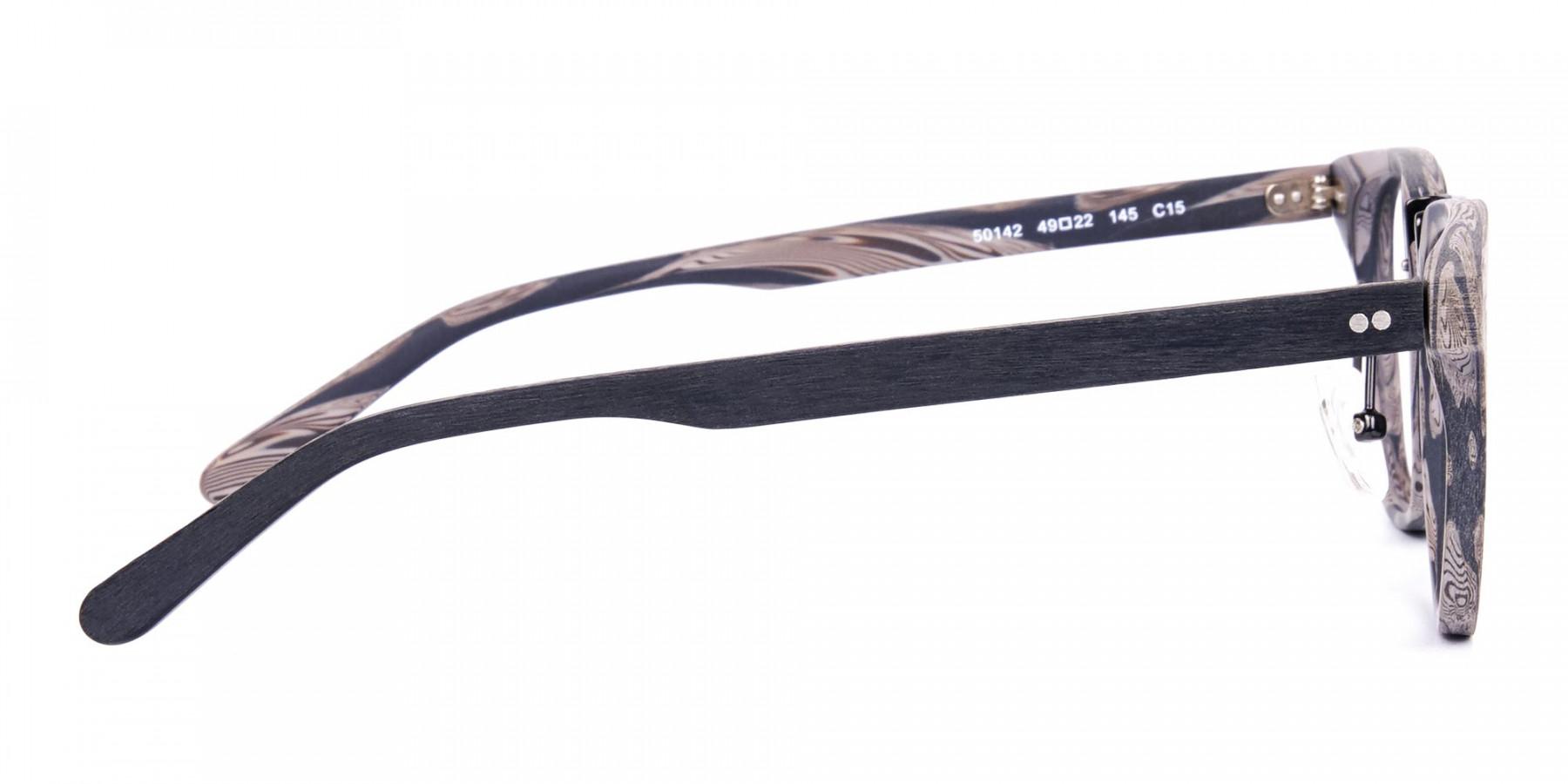 Stripe-Grey-Full-Rim-Wooden-Glasses-1