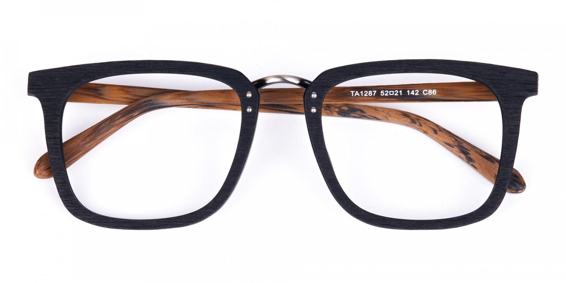 Black-and-Brown-Full-Rim-Wooden-Glasses-1