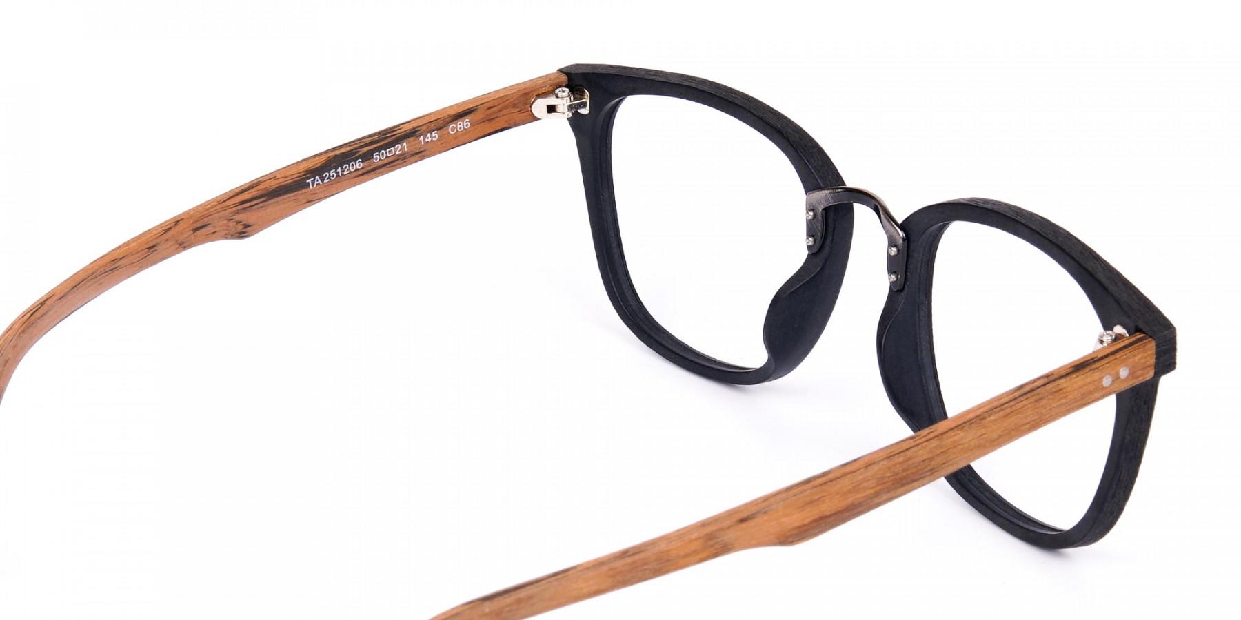Wooden-Texture-Black-Full-Rim-Glasses-1