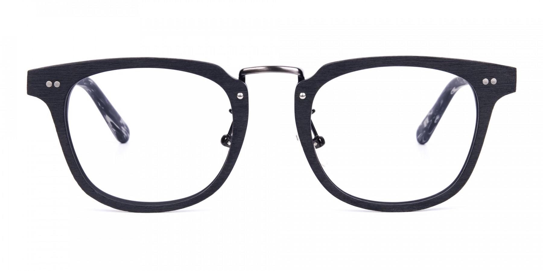 Black-Square-Full-Rim-Wooden-Glasses-1