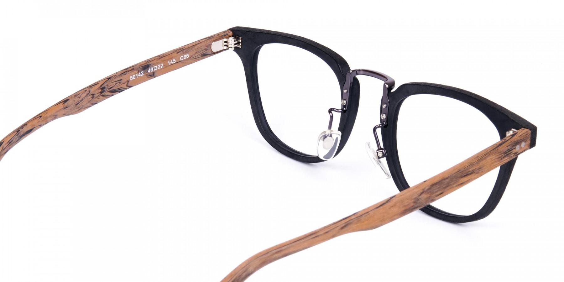 Brown-and-Black-Full-Rim-Wooden-Glasses-1