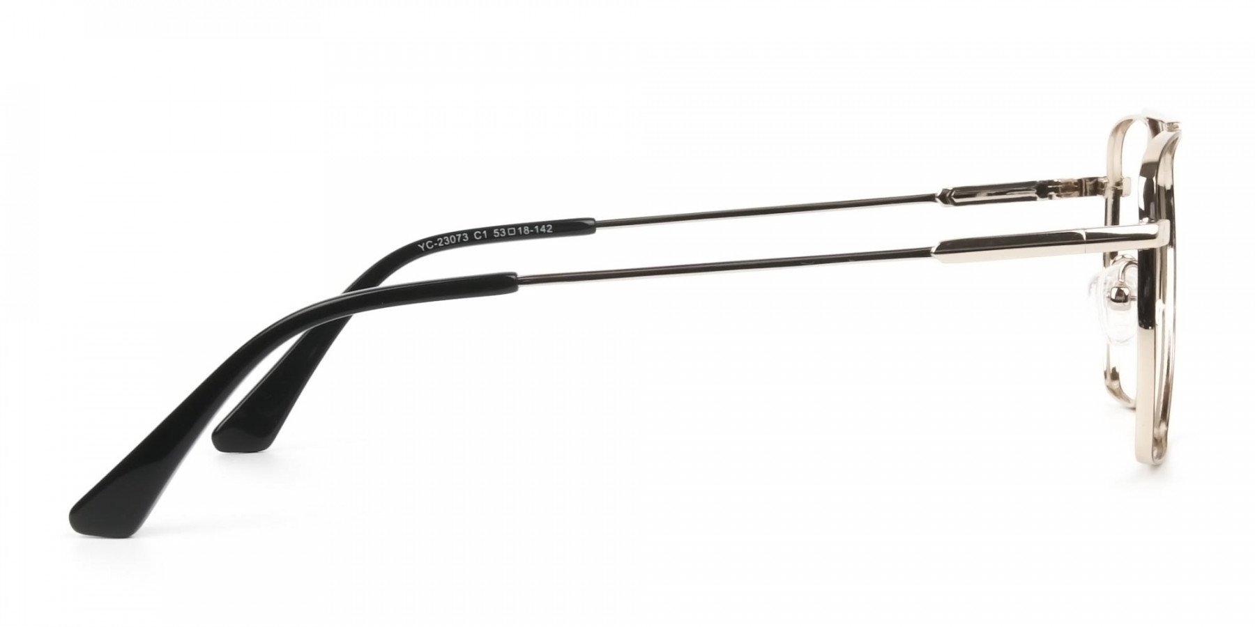 Black  and Gold Aviator  Wire Frame Glasses Men Women - 1