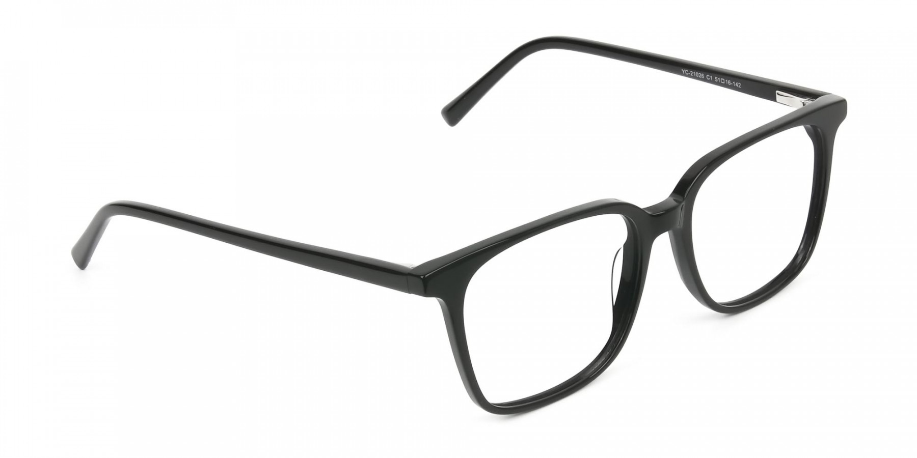 Wayfarer and Square Glasses in Black - 1
