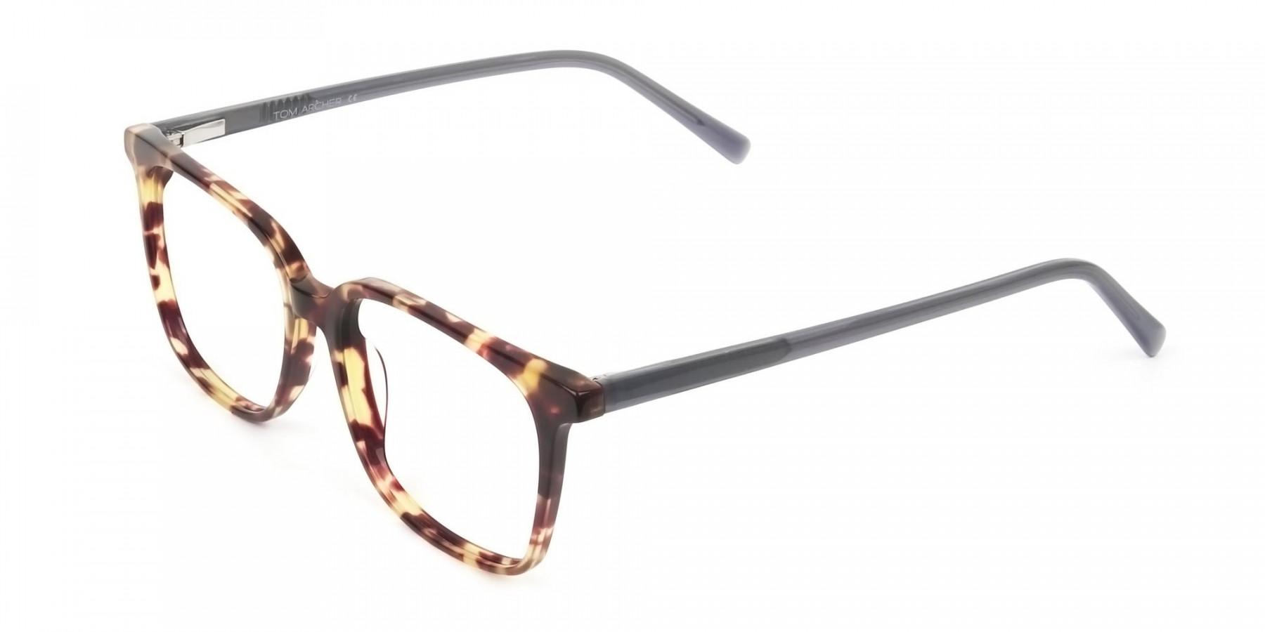 Large Square Tortoise Shell Glasses - 1