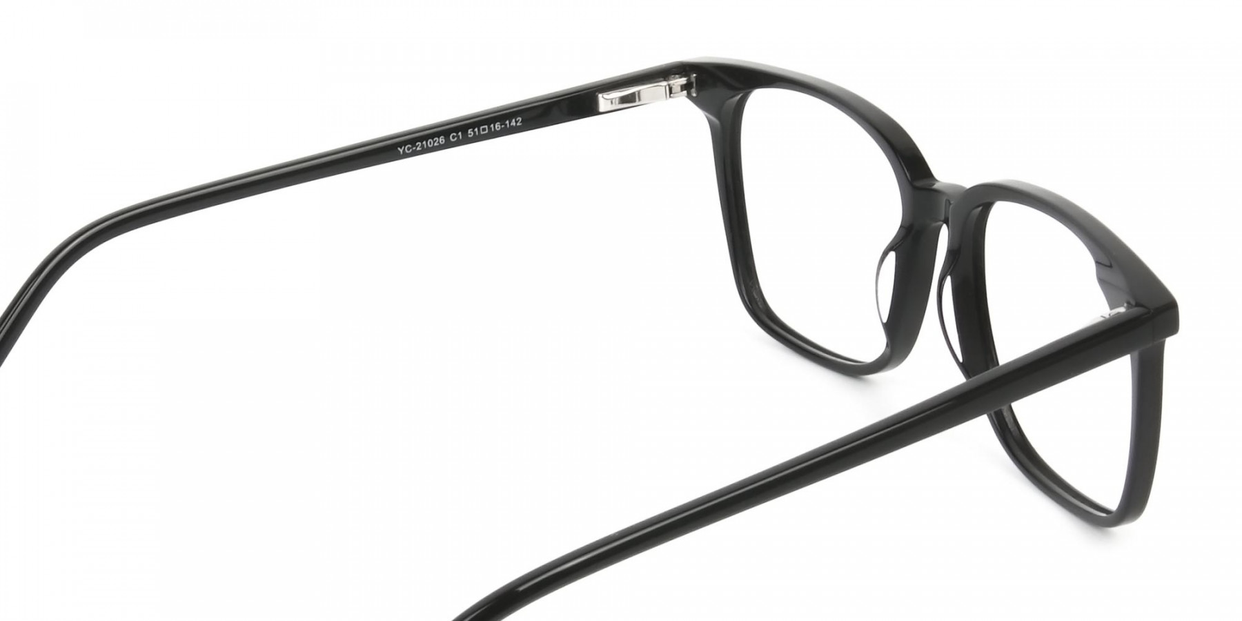 Wayfarer and Square Glasses in Black - 1