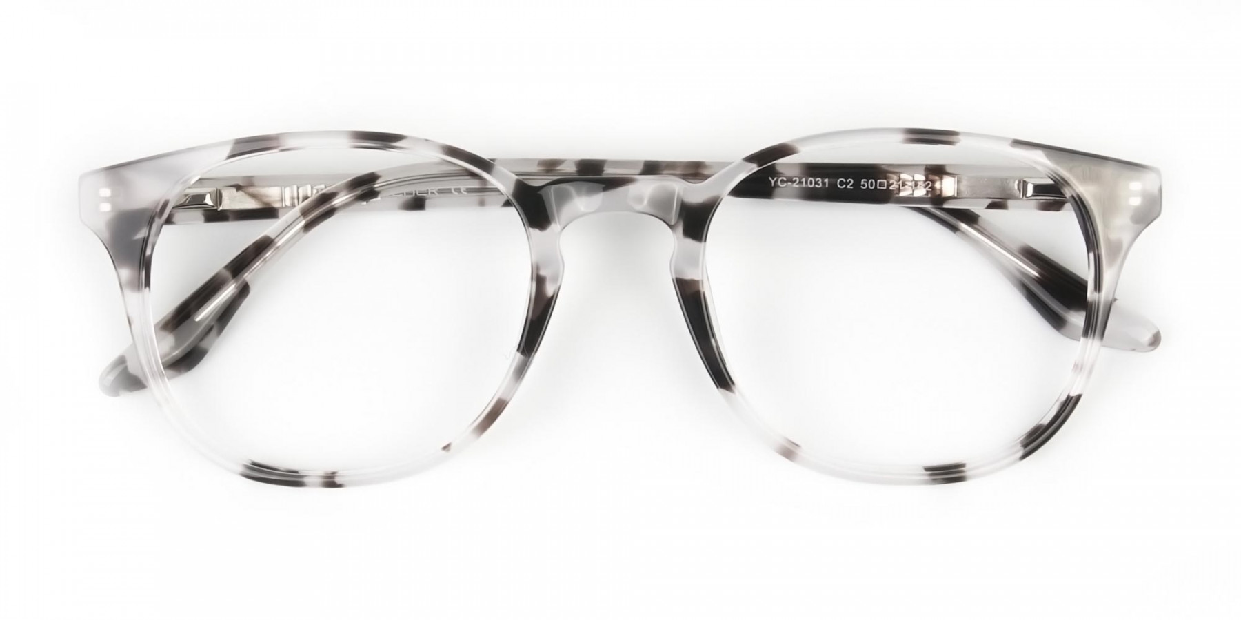 Marble Grey Glasses Frames in Wayfarer - 1