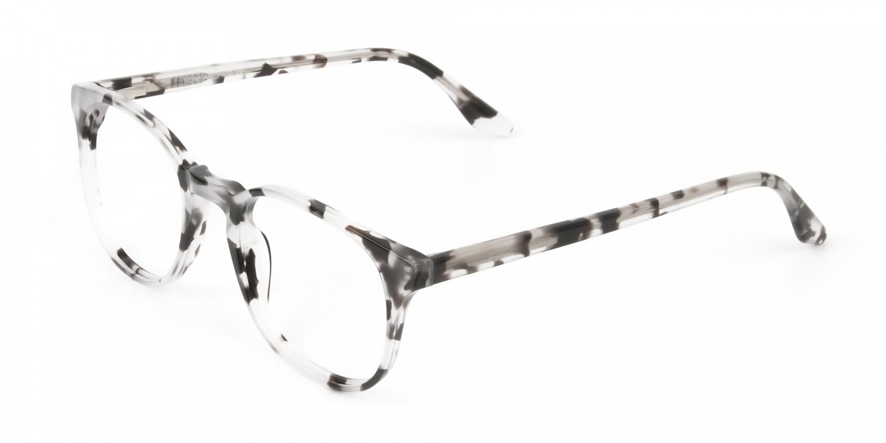 Marble Grey Glasses Frames in Wayfarer - 1