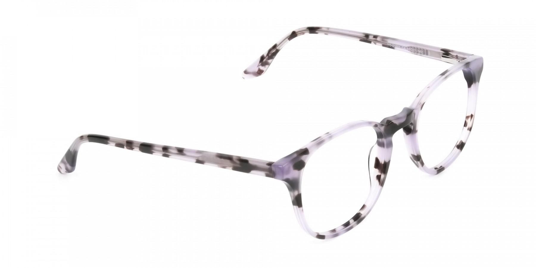 Keyhole Pastel Purple Tortoise Glasses in Wayfarer - 1