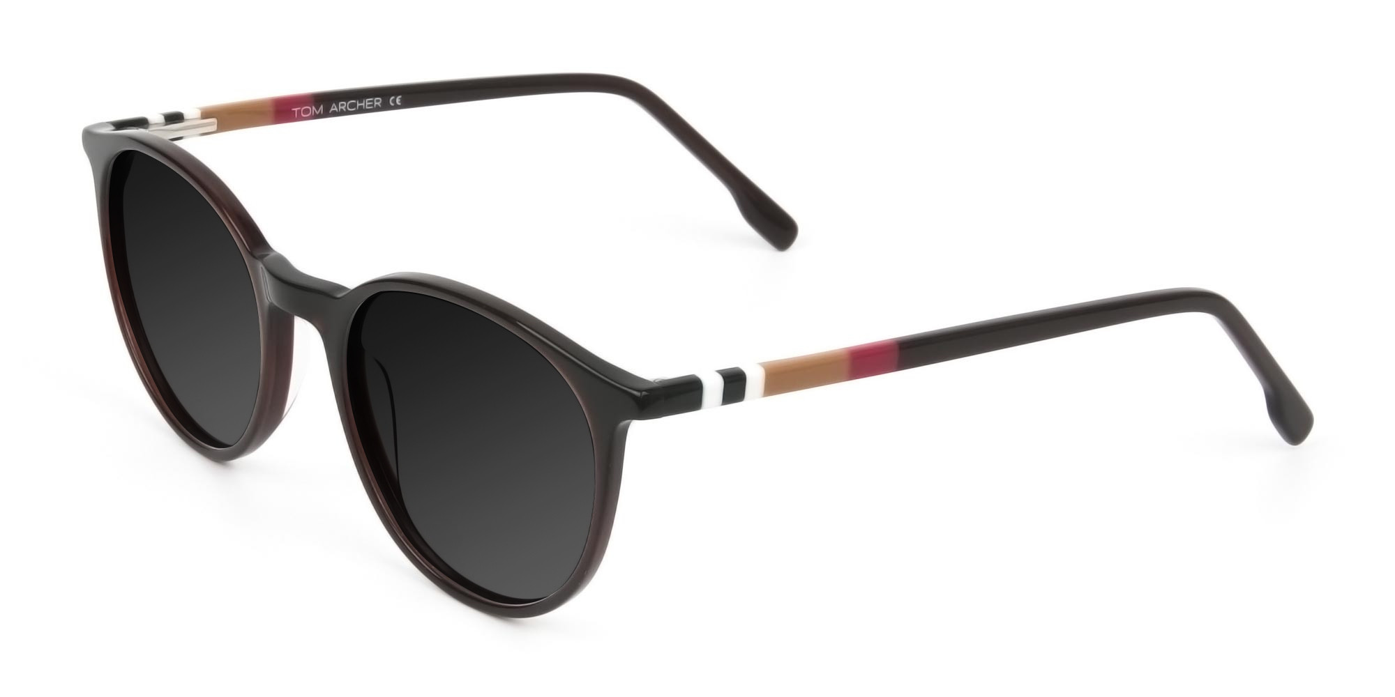 Dark-grey-tinted-dark-brown-sunglasses - 3