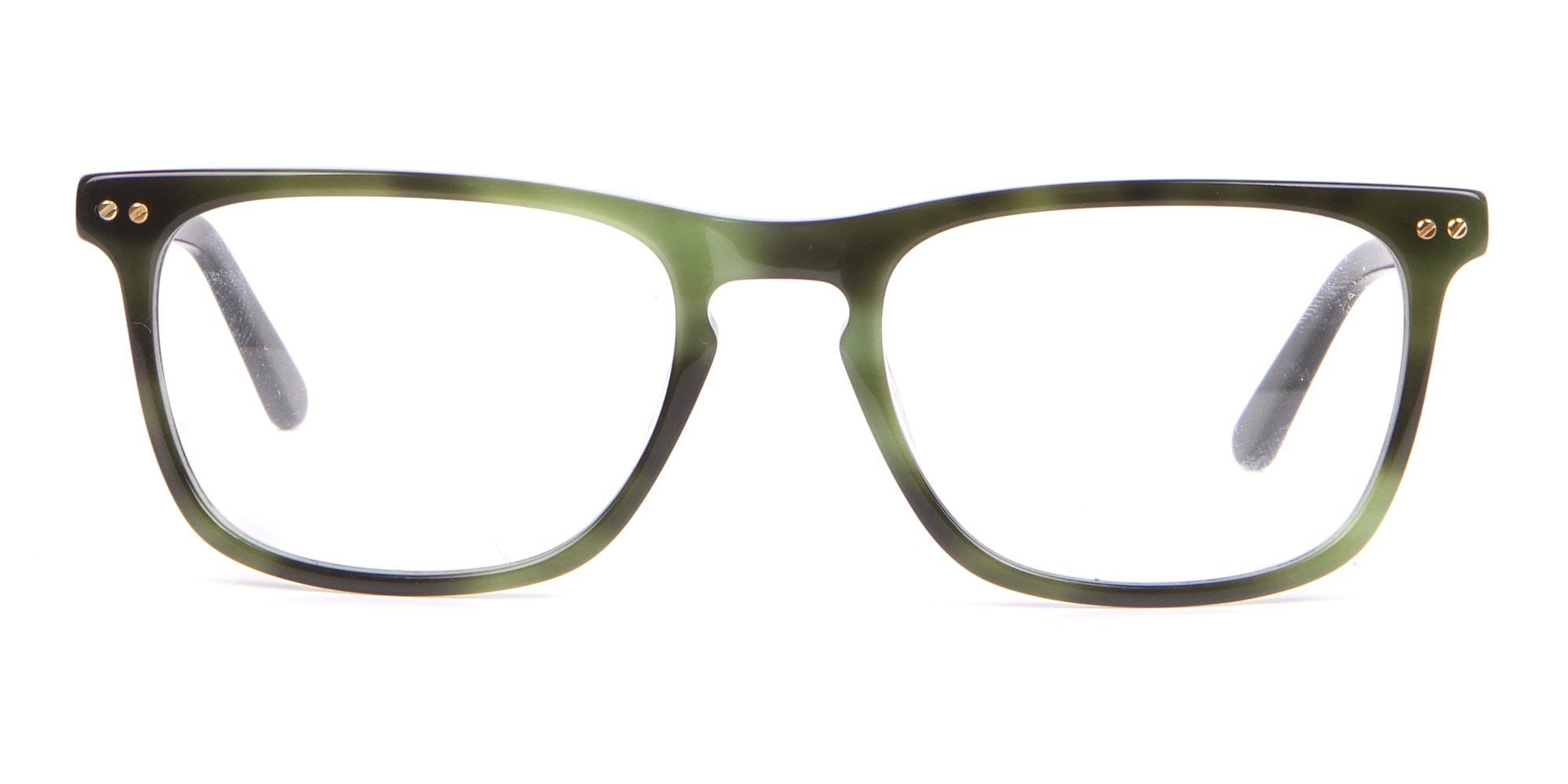 Calvin Klein CK18513 Rectangular Glasses in Green Tortoise-1