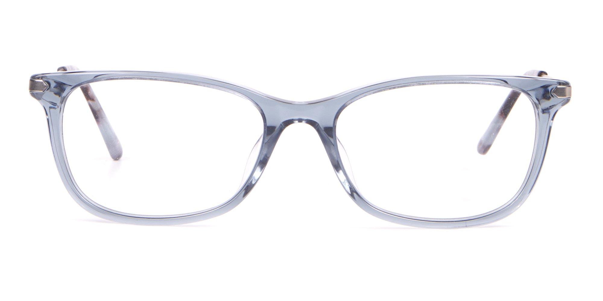 Calvin Klein CK18722 Crystal Blue Cat-Eye Rectangular Frame-1