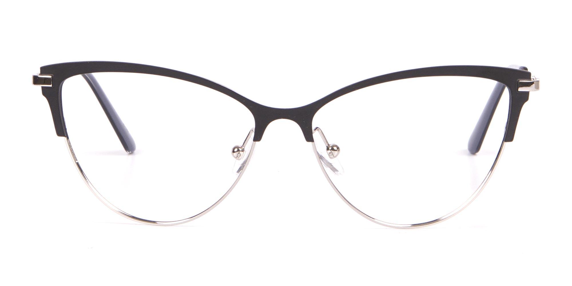 Calvin Klein CK19111 Women's Cat-Eye Browline Glasses Black-1