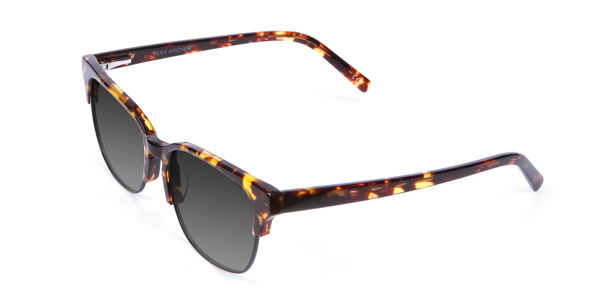 Men's Rectangular Tortoiseshell Sunglasses-3