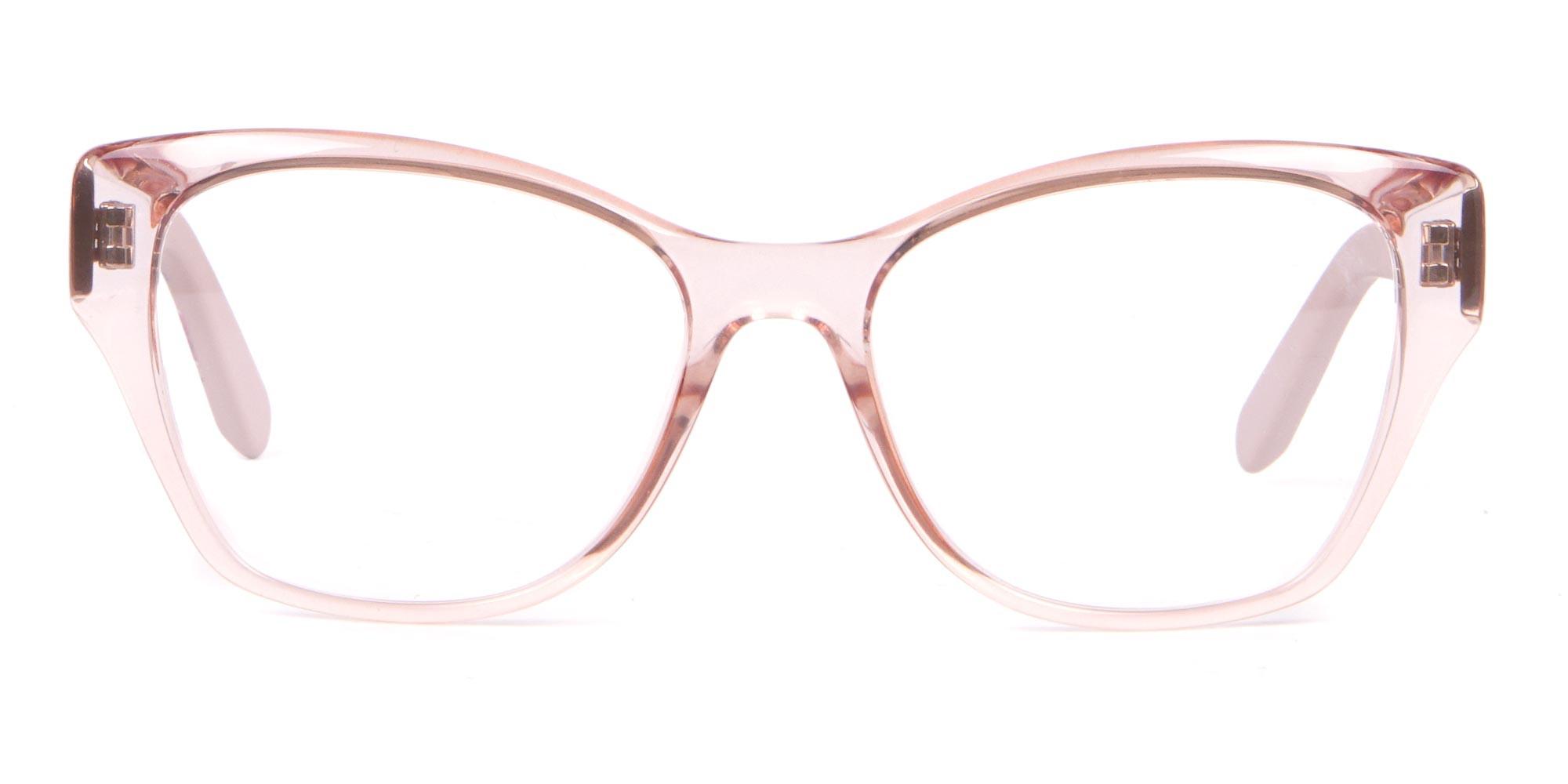 Salvatore Ferragamo SF2827 Cateye Wayfarer Glasses Nude-1