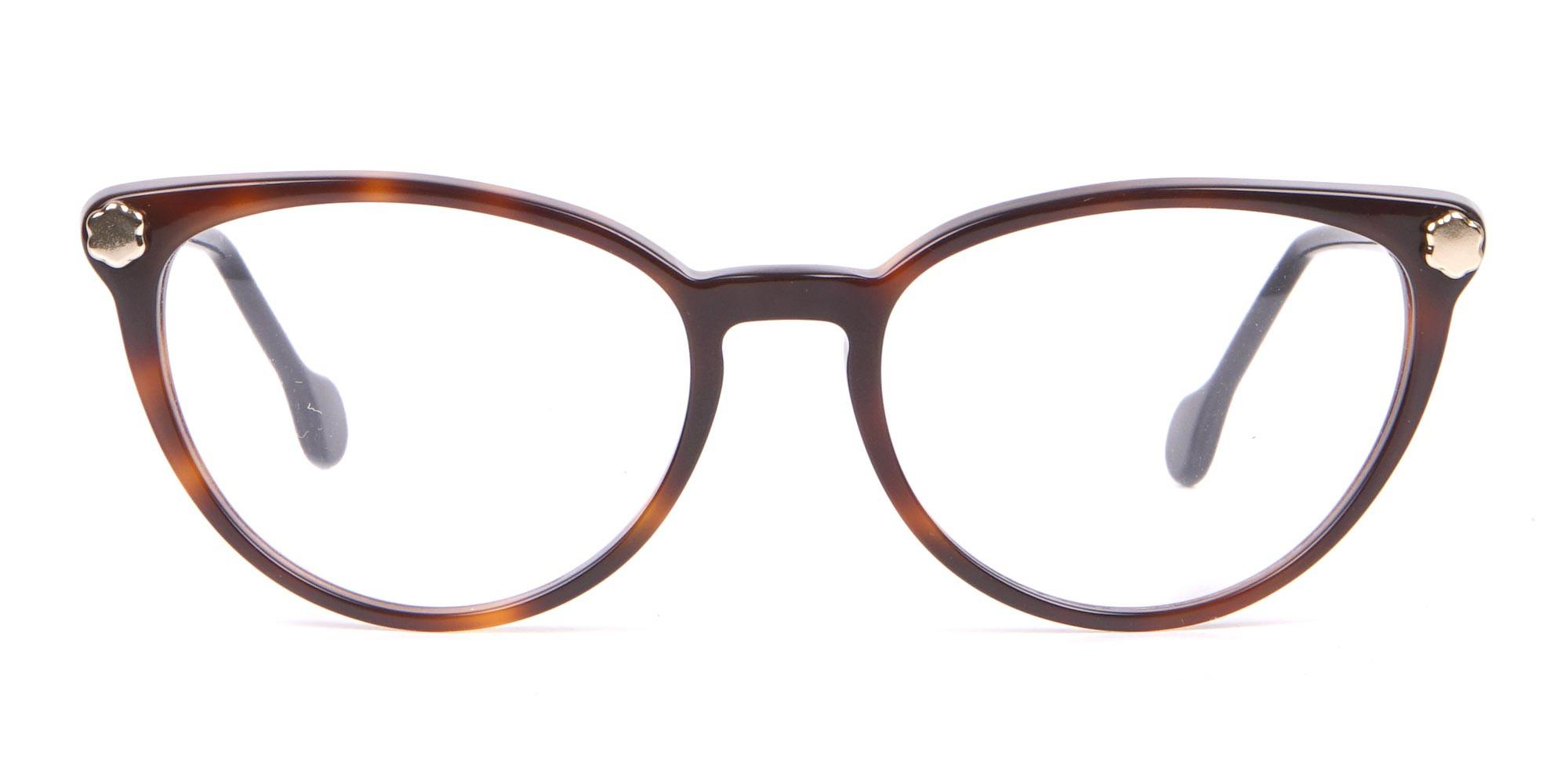 Salvatore Ferragamo SF2837 Women's Cateye Glasses Tortoise-1