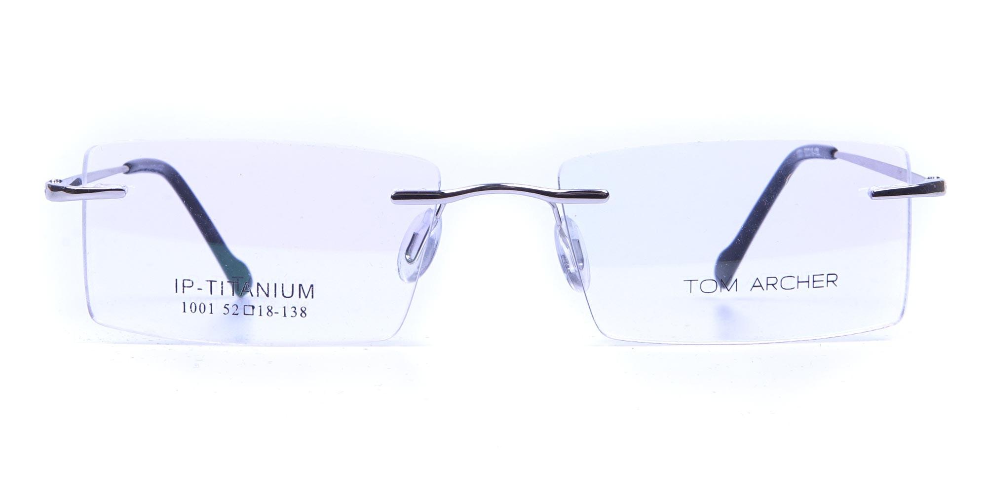 Rimless Glasses in Silver for Men & Women - 1