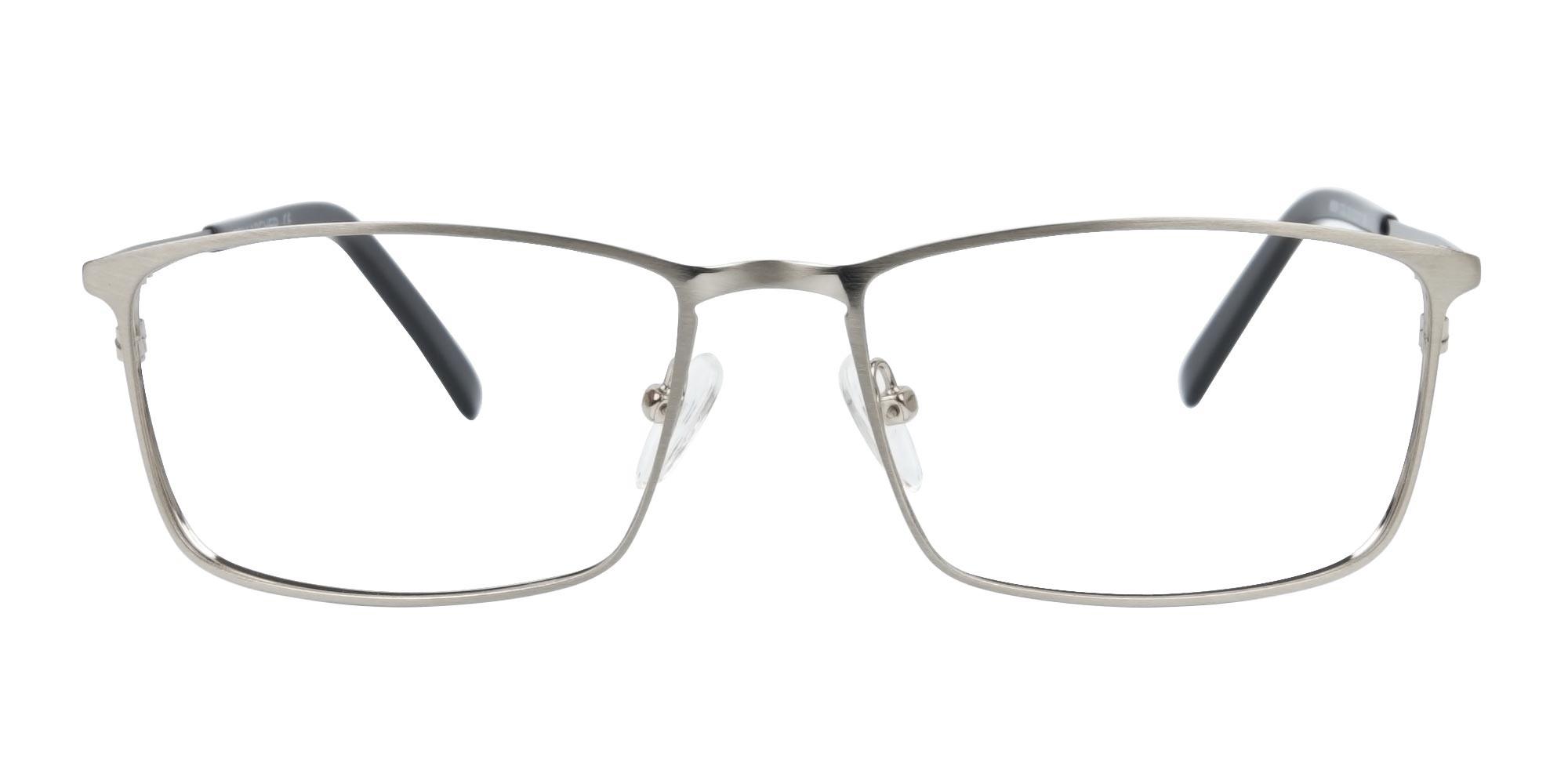 Silver Full-Rimmed Rectangular Glasses-1