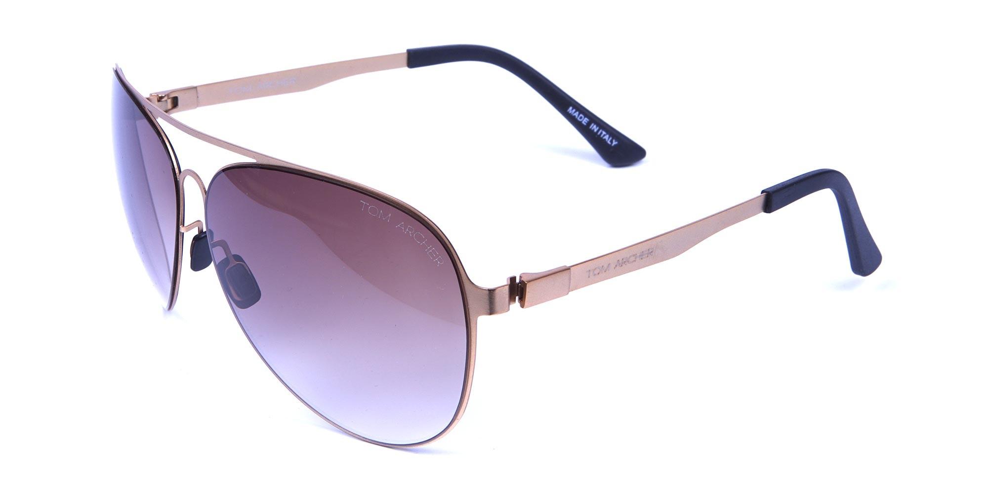 Brown & Gold Avatar Sunglasses -2