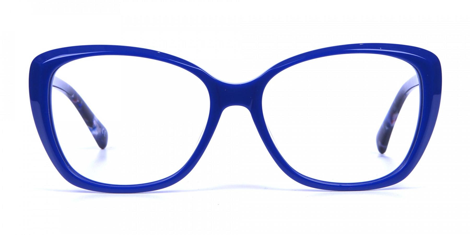 Royal Blue Cat Eye Glasses for Women