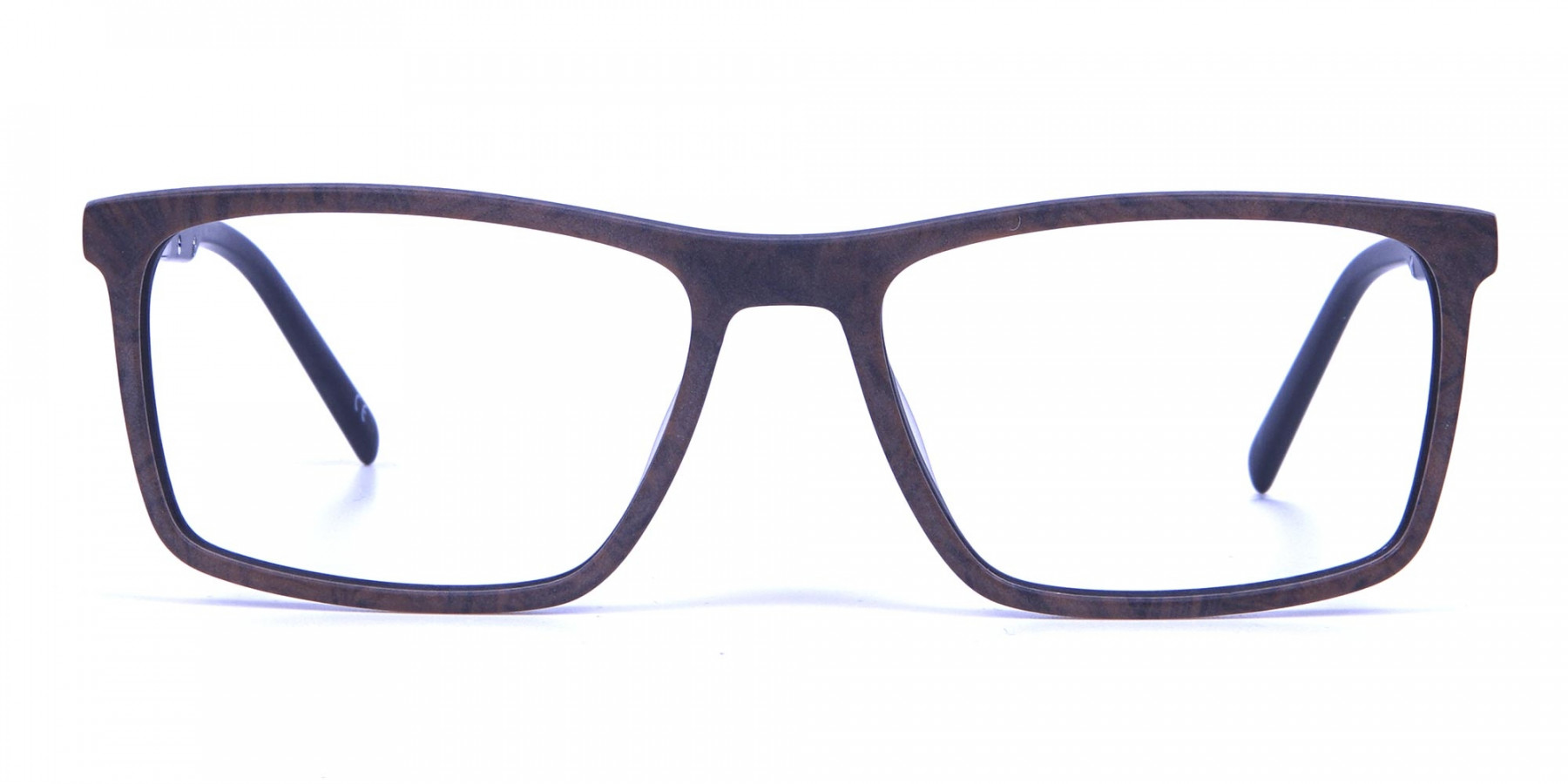 Wooden Texture Brown Rectangular Glasses for men and women
