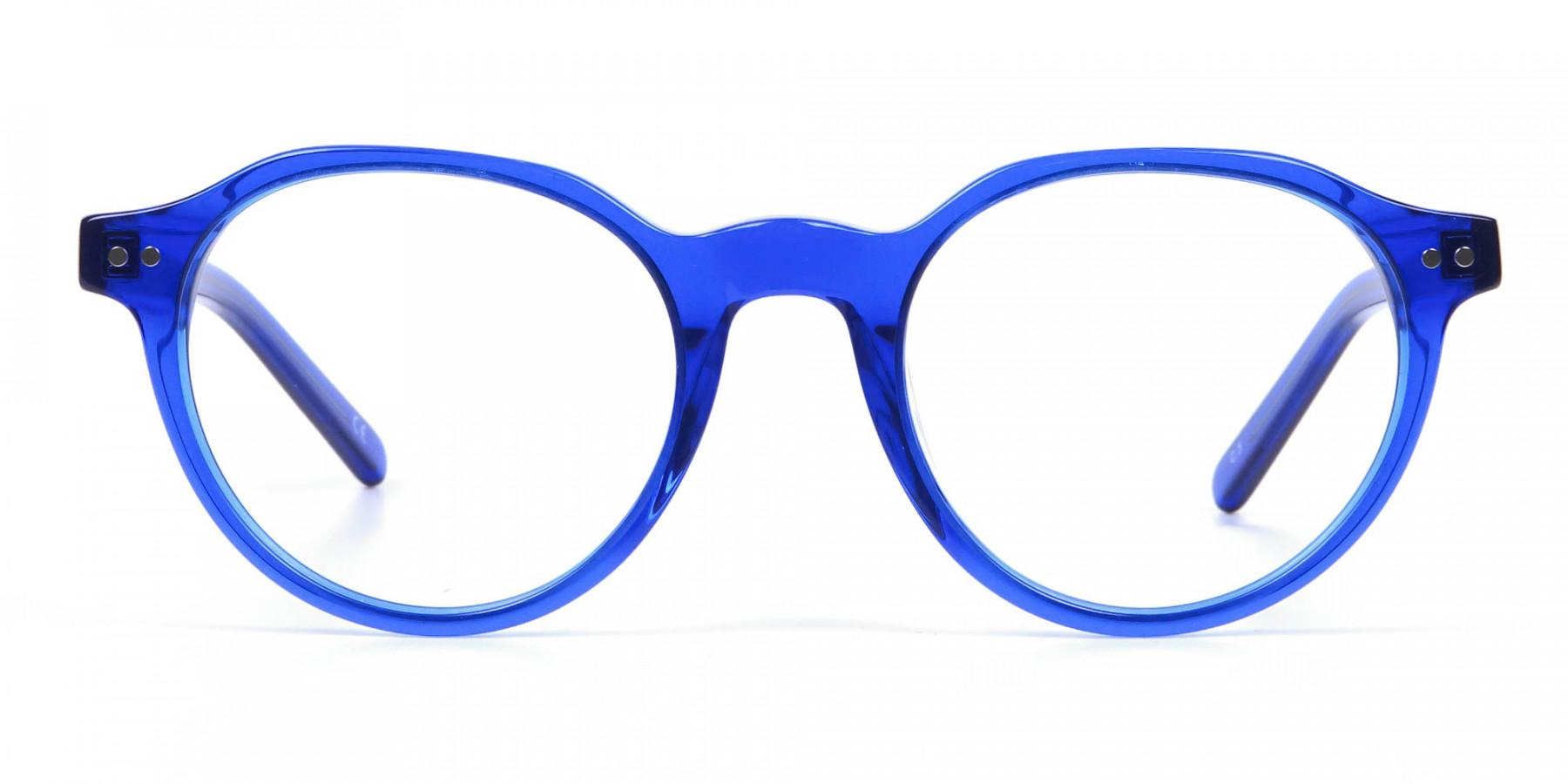 Ocean Electric Blue Retro Eyeglasses
