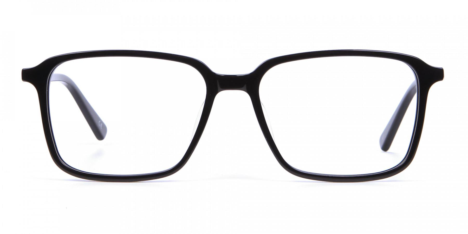 Black Rectangular Glasses