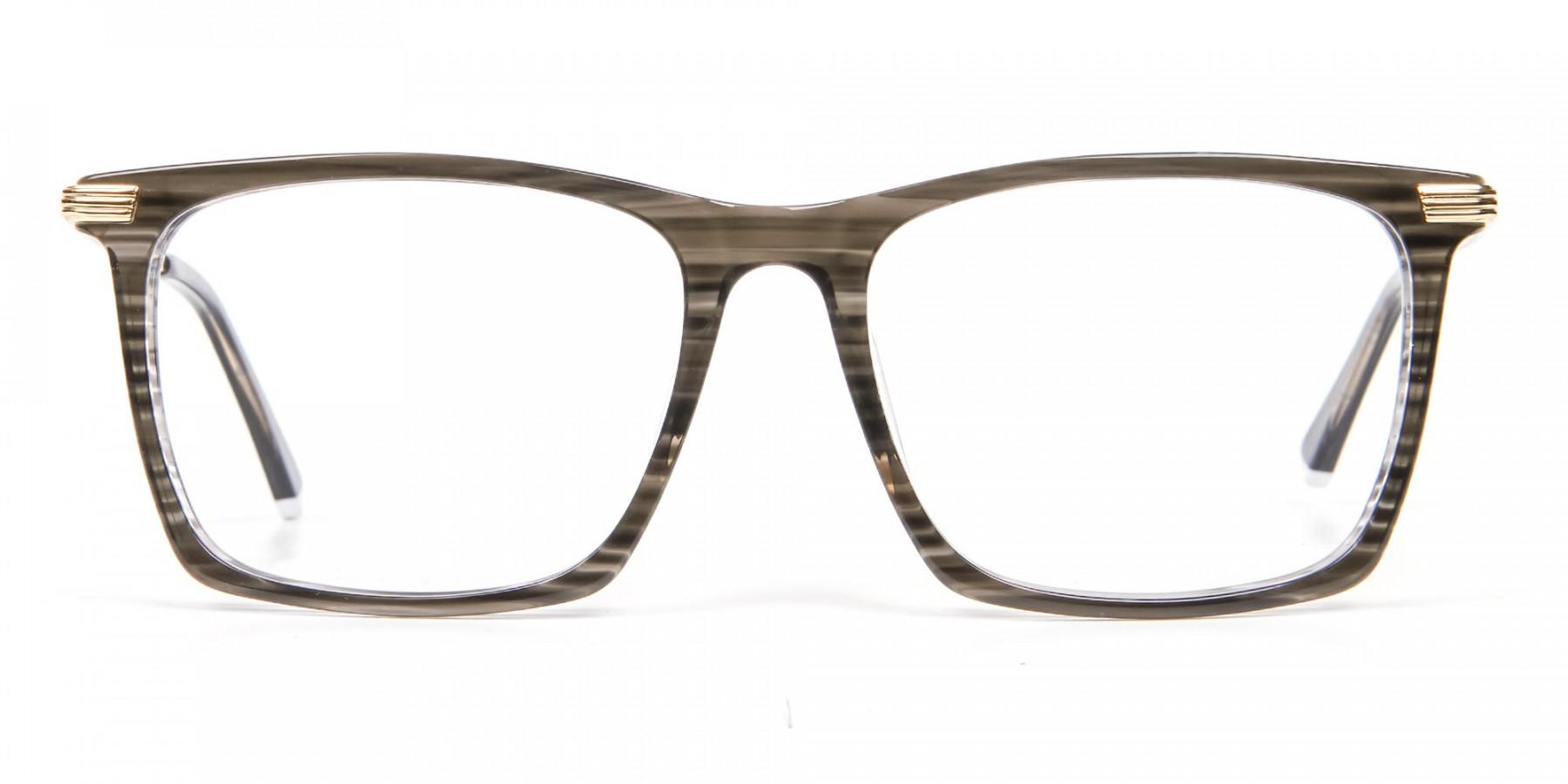 Black Wooden Textured Glasses- 1