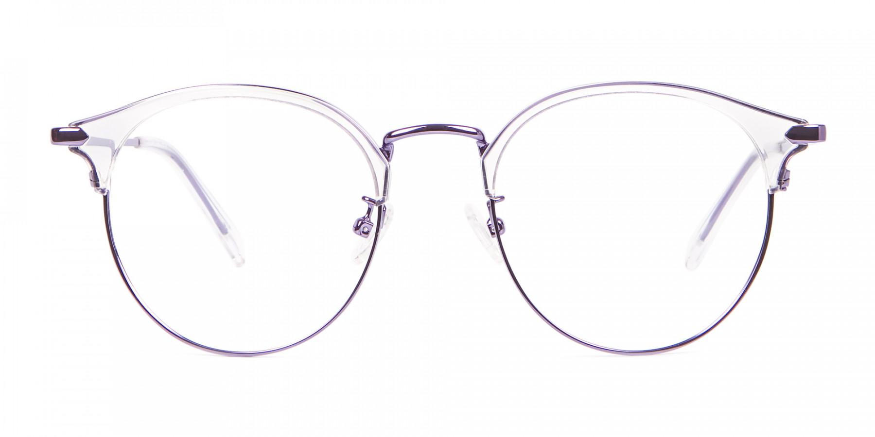 See-Through Browline Round in Purple- 1