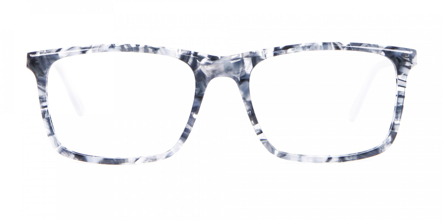 Blue Marble Rectangular Glasses, Online UK -1