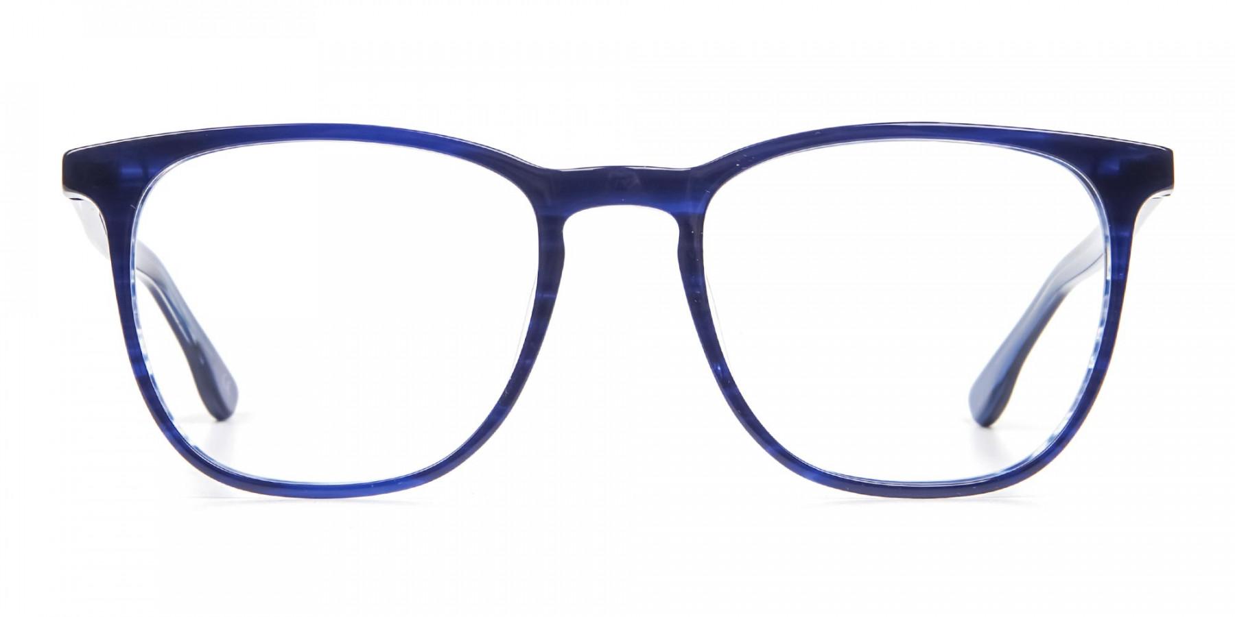 Noble Blue Frame in Square - 1