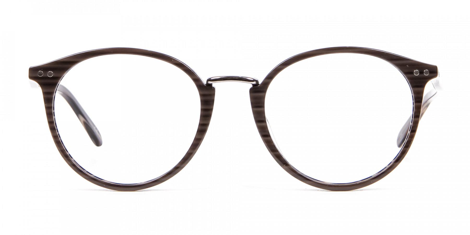 Grey Walnut Round Glasses Unisex