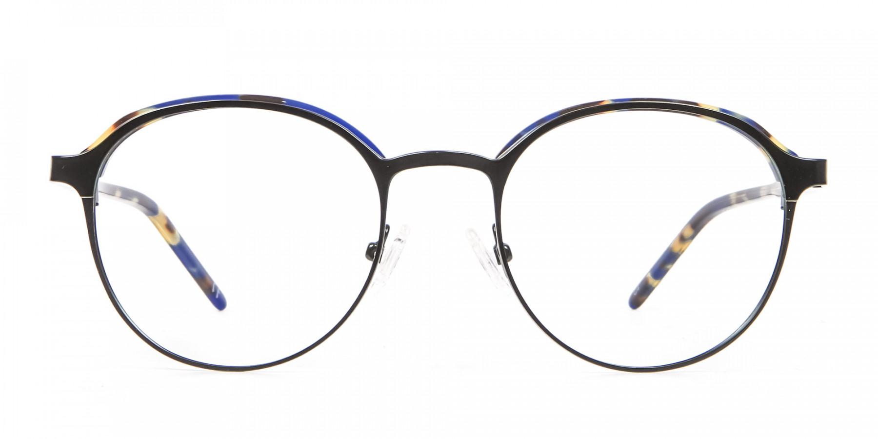 Green and Tortoiseshell Round Glasses