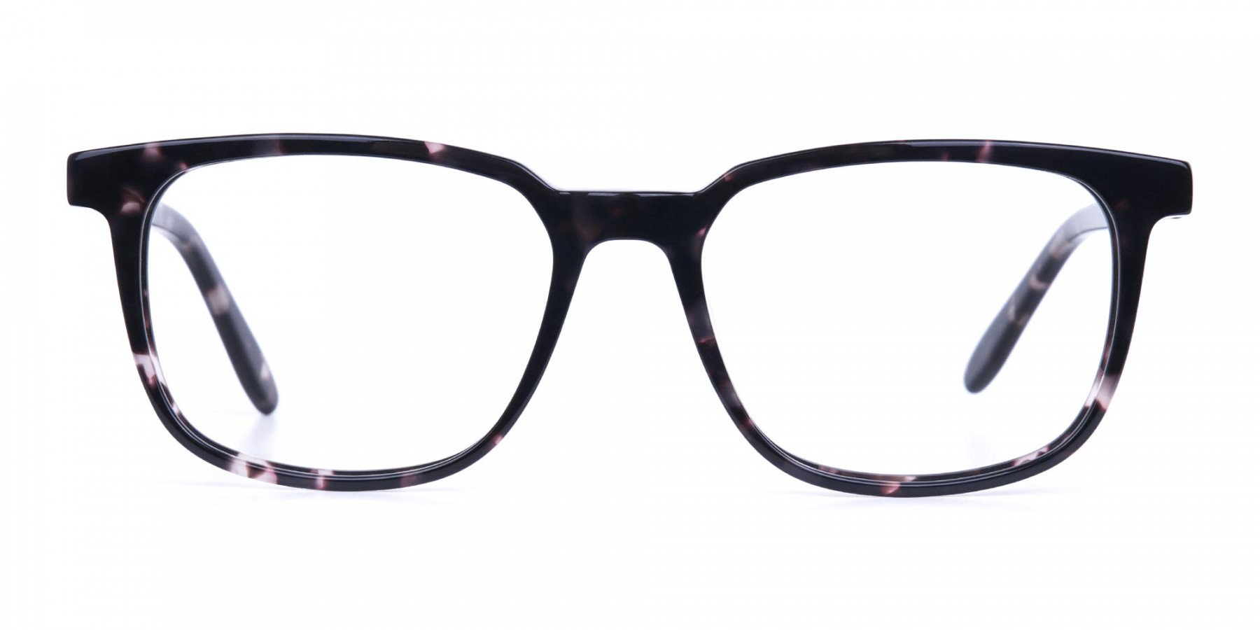 Dark Tortoise Rectangular Glasses Acetate Unisex-1