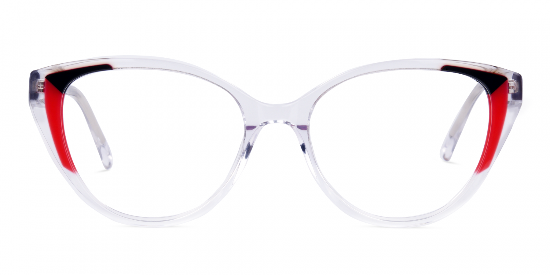 Crystal-Clear-and-Black-Red-Wings-Cat-Eye-Glasses-1