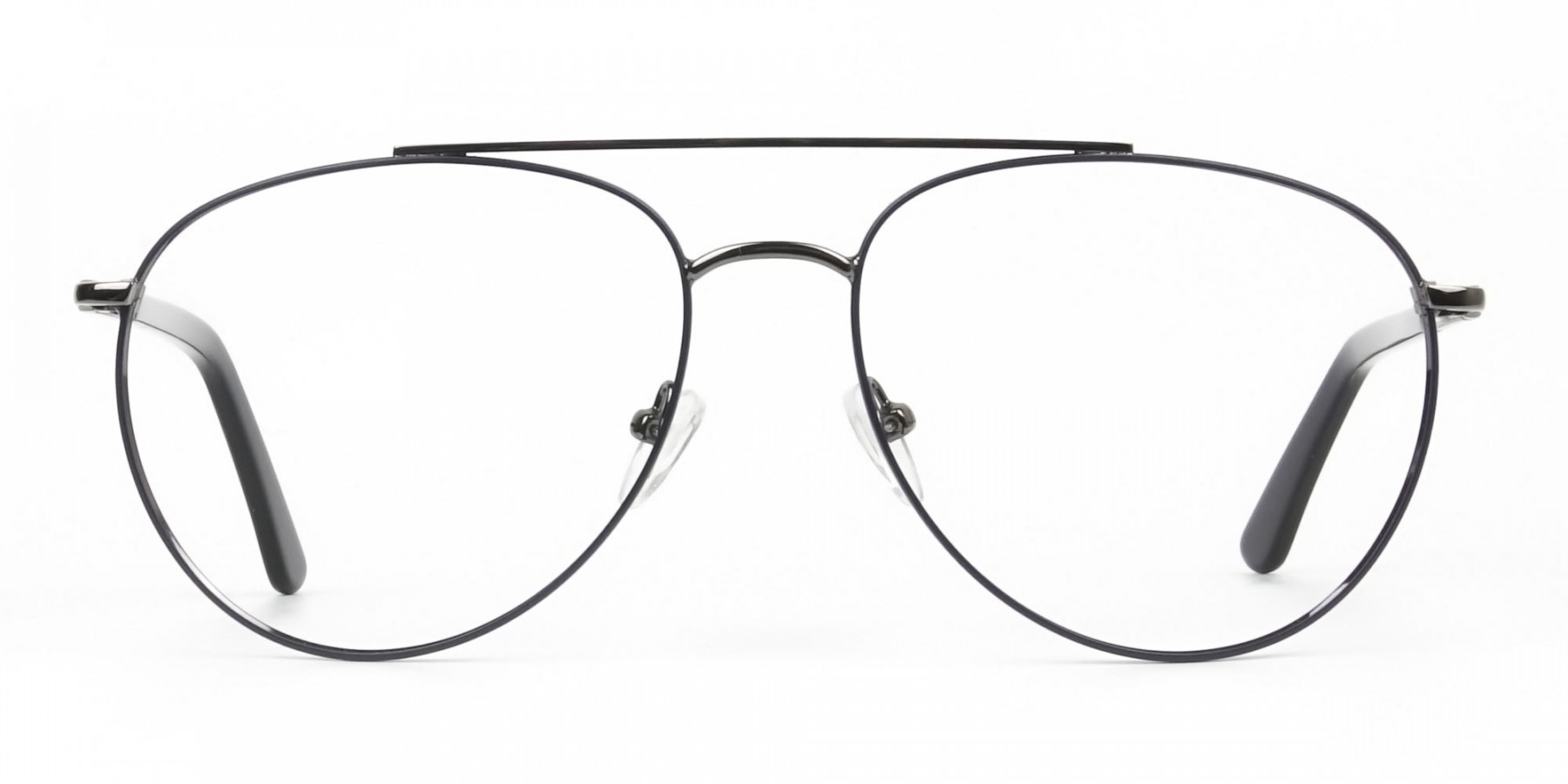 Ultralight Aviator Gunmetal Navy Blue Glasses - 1