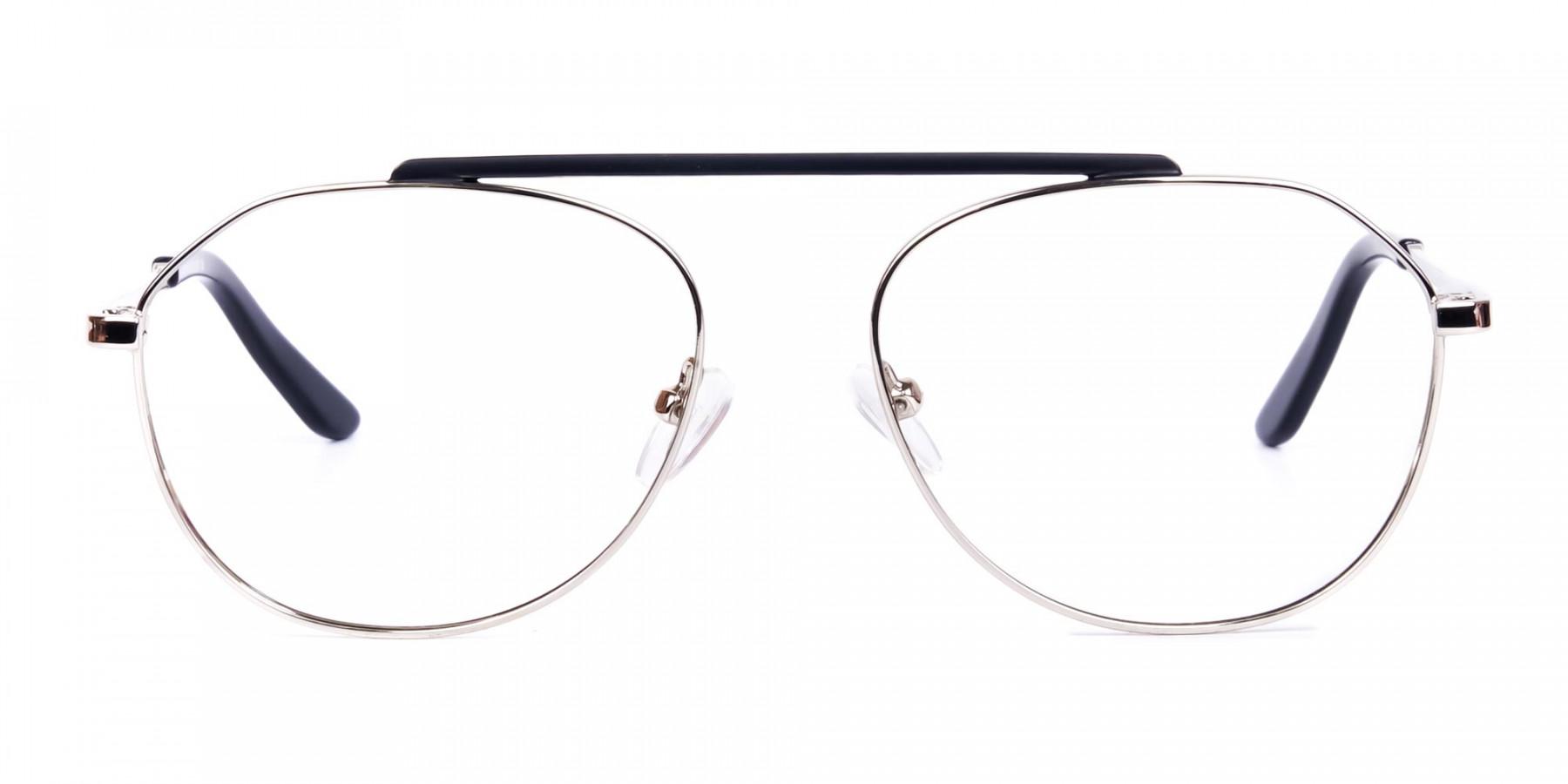 Black-Silver-Aviator-Glasses-1