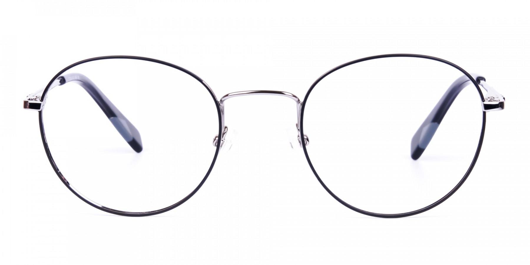 Stylish-Black-Silver-Round-Glasses-1